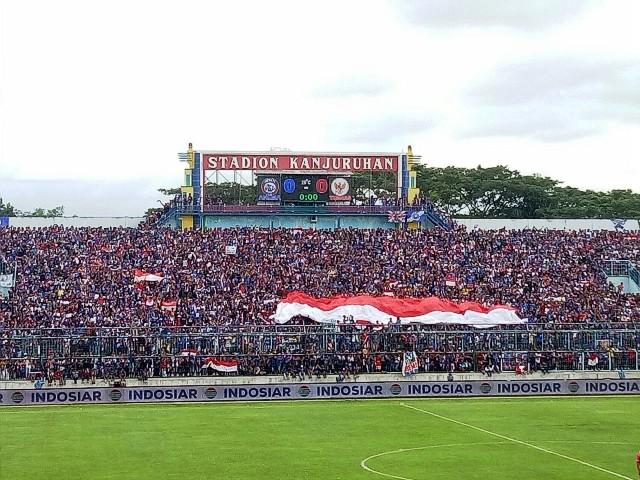 Stadion Kanjuruhan bakal menerapkan peraturan baru bagi suporter-Medcom.id/Daviq