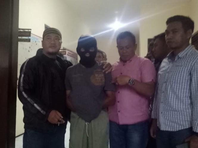 Pelaku pembunuhan di Polsek Kedungkandang. Medcom.id/Daviq Umar Al Faruq