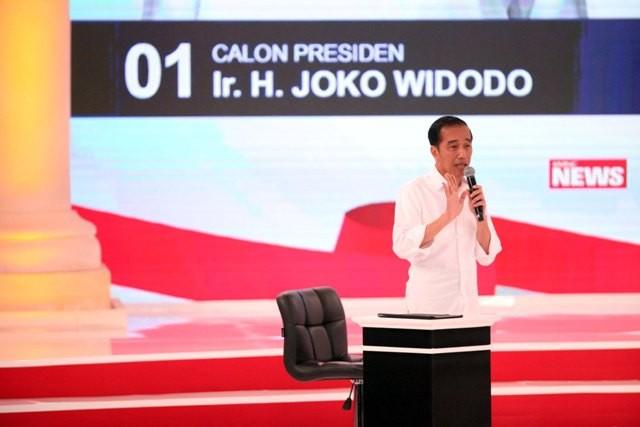 Calon presiden nomor urut 01, Joko Widodo--MI/ROMMY PUJIANTO