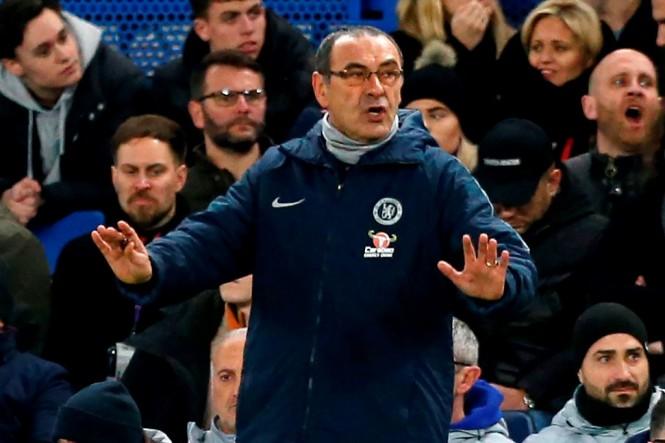 Pelatih Chelsea, Maurizio Sarri (AFP/Ian Kington)