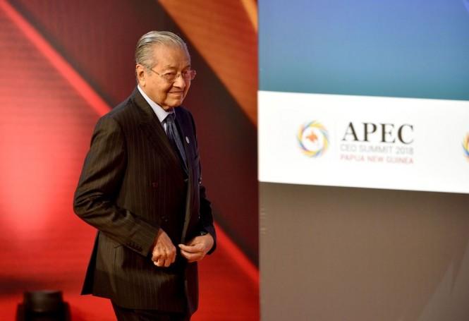 PM Malaysia Mahathir Mohamad saat menghadiri APEC di Port Moresby. (Foto: AFP)