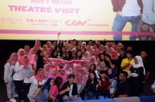 Michelle Ziudith Terkesan saat Nobar Film Calon Bini di Bali dan Lombok
