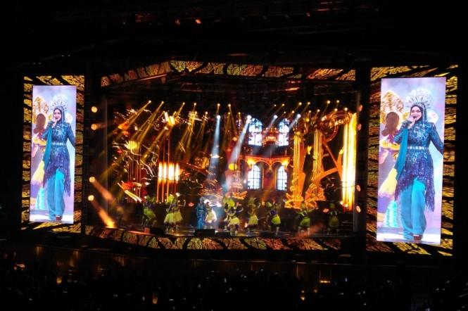 Konser Siti Nurhaliza (Foto: Medcom/Purba)