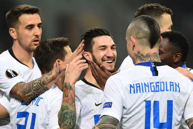 Skuat Inter Milan. (Foto: AFP/Miguel Medina)
