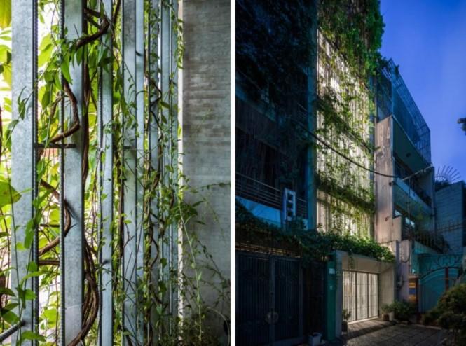 Rumah yang dijuluki Breathing House di Vietnam. (Foto:  Hiroyuki Oki via Vo Trong Nghia Architects/Inhabitat)