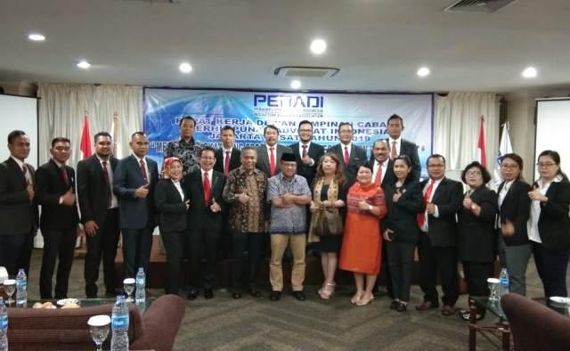 Dewan Pimpinan Cabang (DPC) Peradi Jakarta Pusat menggelar Rapat Kerja Cabang (Rakercab)--Istimewa