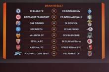 Hasil Undian Babak 16 Besar Liga Europa 2018--2019