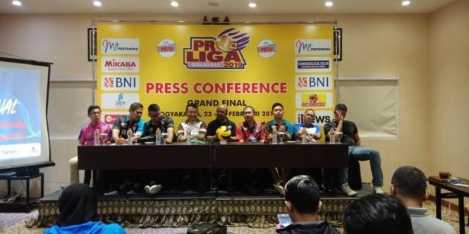 Konferensi pers grand final Proliga 2019 (Humas Proliga 2019)