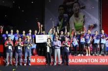 Tim Putri Mutiara Cardinal Juara Superliga Badminton