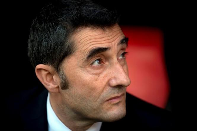 Pelatih Barcelona, Ernesto Valverde (AFP/Jorge Guerrero)