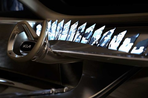Bocoran Panel Dasbor Futuristik di Mobil Konsep Kia