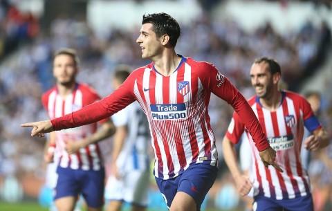 Dua Gol Morata Bantu Atletico Hancurkan Real Sociedad