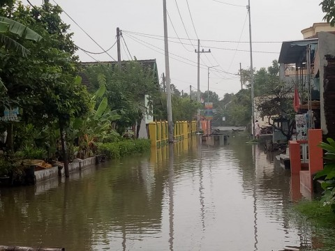 Pasca Diguyur Hujan, Dua Dusun di Porong Kembali Banjir