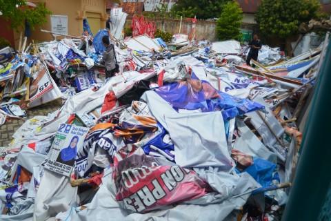 Pelanggar Alat Peraga Kampanye Terbanyak di Jawa Barat
