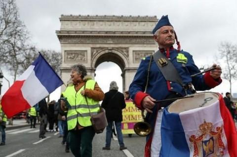 Jumlah Demonstran Rompi Kuning Terendah Sejak Aksi Perdana