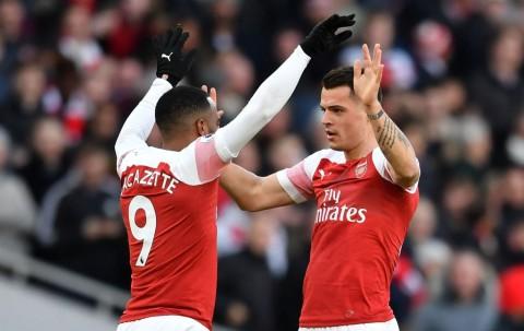 Sementara, Xhaka Bawa Arsenal Ungguli United