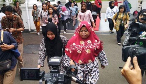 Siti Aisyah Bertemu Presiden Jokowi