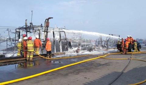KM Riki Baru Terbakar karena Radiator Meledak