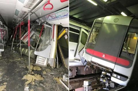 Dua Kereta MTR Hong Kong Bertabrakan saat Uji Coba