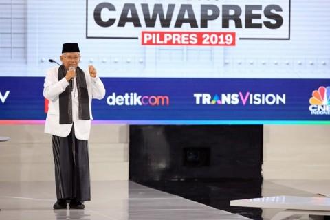 Ma'ruf Amin's Debate Performance Praised