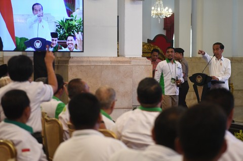 Jokowi Buka Rakor HKTI di Istana Negara