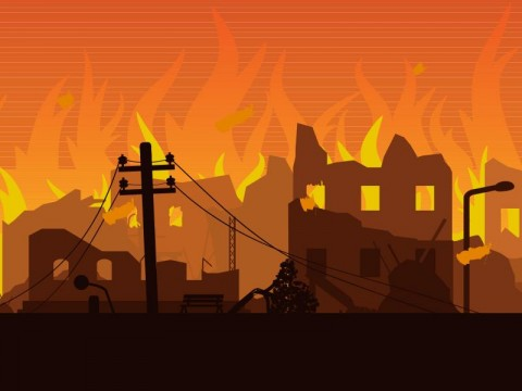 20 Rumah di Banjarmasin Terbakar