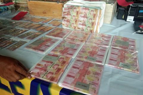 Polisi Sita Uang Palsu Rp4,5 Miliar, Tangkap 4 Pengedar