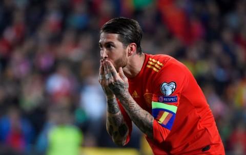 Gol Penalti Ramos Bantu Spanyol Atasi Norwegia