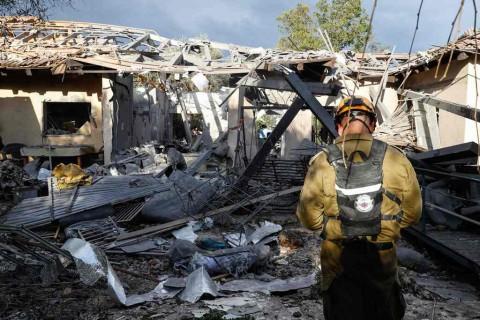 Roket dari Gaza Hantam Rumah di Israel, 7 Terluka