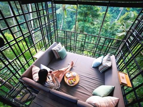 Sarapan di Atas Ketinggian Hutan Bali