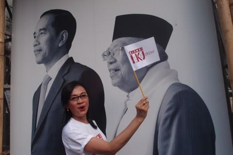 Elektabilitas Jokowi-Ma`ruf Melompati Prabowo-Sandi di Banten dan Jabar