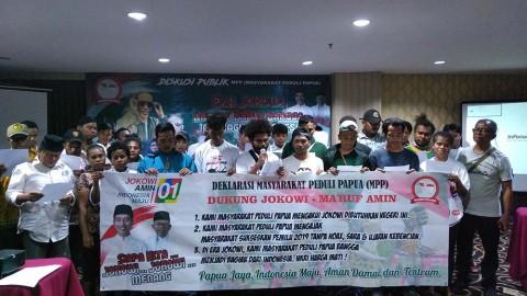Masyarakat Peduli Papua Dukung Jokowi-Ma'ruf