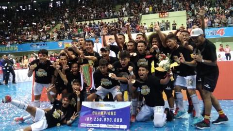 Kalahkan Black Steel, Vamos Mataram <i>Hattrick</i> Juara Liga Futsal