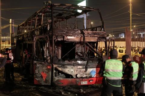 Insiden Bus Terbakar di Peru Tewaskan 20 Orang