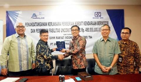 Andalan Finance Raih Pinjaman Rp480 Miliar dari BRI