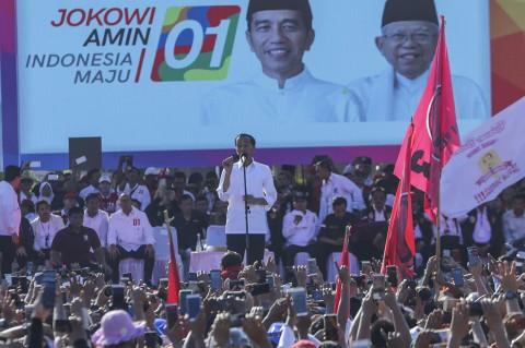 Kampanye di Batam, Jokowi Ajak Pendukung Perangi Hoaks