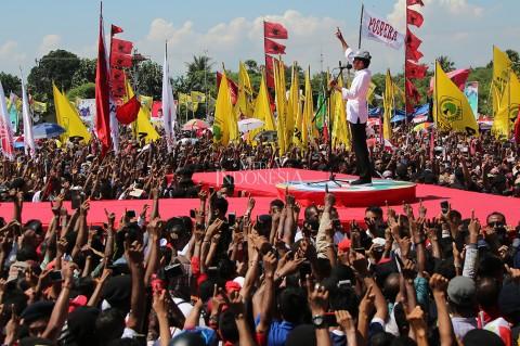 Jokowi Optimis Raih 80 Persen Suara di NTT