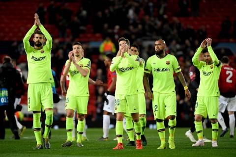 Barcelona Menang Tipis di Old Trafford
