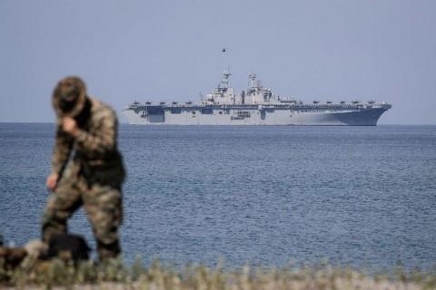 Kapal Perang AS Berlayar di Laut China Selatan