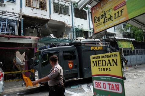 Dua Orang Tewas Akibat Ledakan di Medan