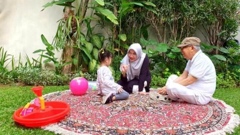 Ma'ruf Isi Masa Tenang Bersama Cucu