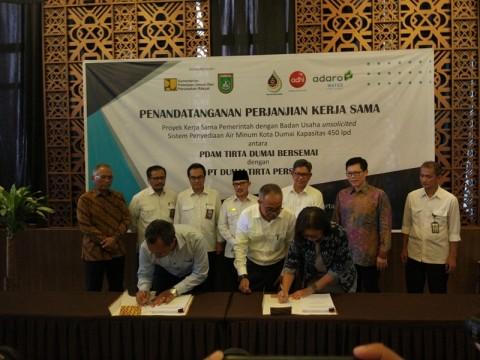 Adhi Karya Teken Proyek Penyediaan Air Bersih Dumai Rp489 Miliar