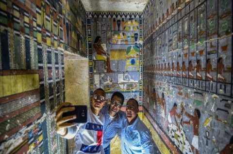 Mesir Temukan Makam Penuh Warna Era Dinasti Kelima