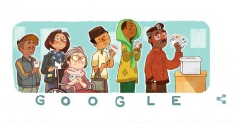 Google Ramaikan Pemilu 2019 Pakai Doodle