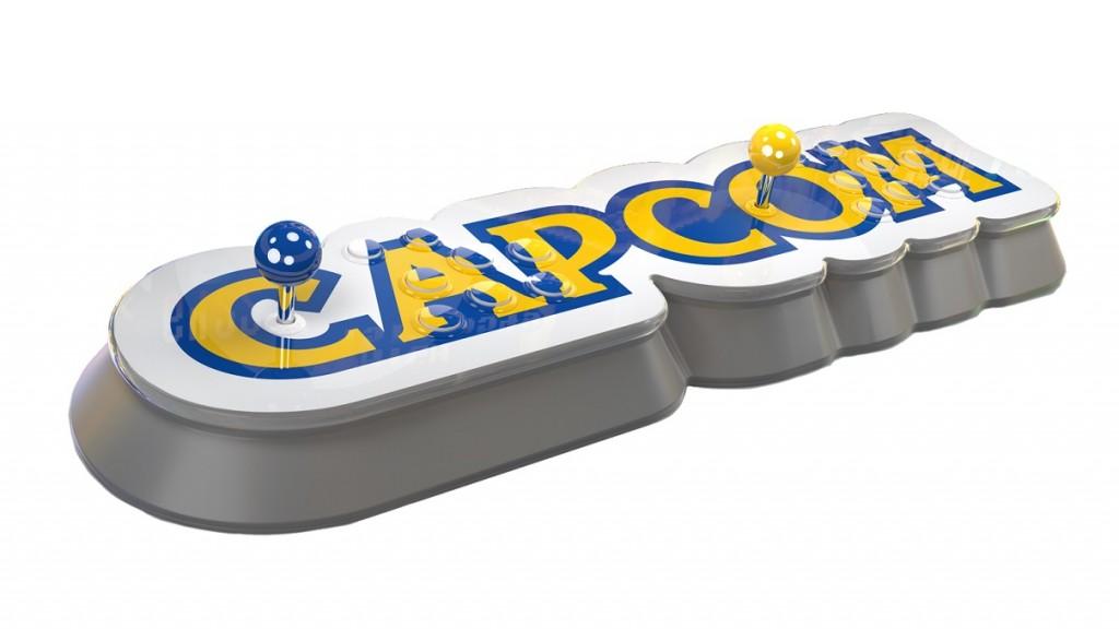 Konsol mini Capcom yang langsung hadir dengan controller khas mesin game arcade.