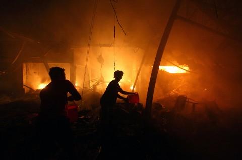 Pasar Lawang Malang Ludes Terbakar