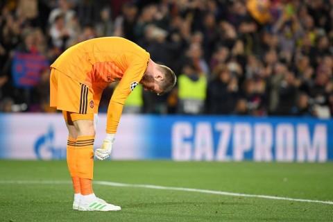 Sebelum Dibantai Barcelona, De Gea Minta Maaf di Ruang Ganti