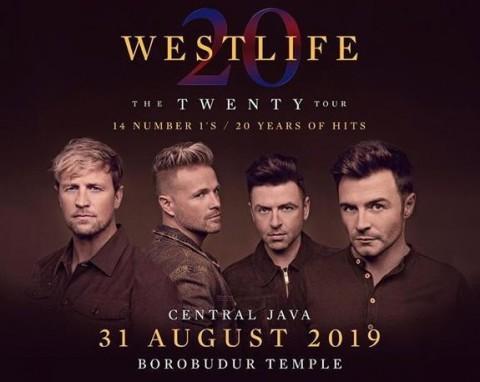 Daftar Harga Tiket Konser Westlife di Borobudur