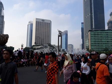 CFD Jakarta Tetap Ramai Meski Libur Panjang