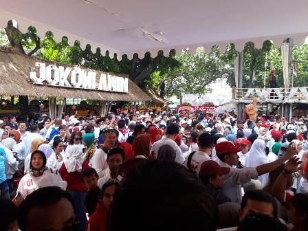 Relawan Jokowi Gelar Syukuran Kemenangan